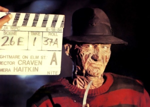 Craven didn't really light Fred Krueger well in the first movie, knowing it kept him scary. This is a rare look at the make-up.