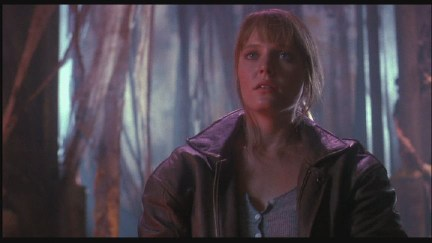 """Welcome to Wonderland, Alice."" Random Lisa Wilcox picture, because she's beautifuland wearing a cool leather jacket."