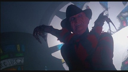 """""""It's a boo-ooyyy!"""" No, it's Freddy with stupid feet and a stupid hand."""