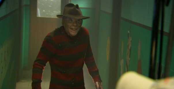 This is as creepy as Freddy gets in this movie, and I'm pretty sure this is cut.