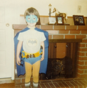 Me in...ooohhh...1981? '82? Between 1980 and 1982. I am Batman.
