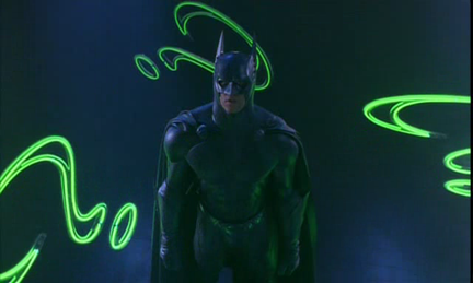 Maybe it's to protect him from all the neon everywhere.