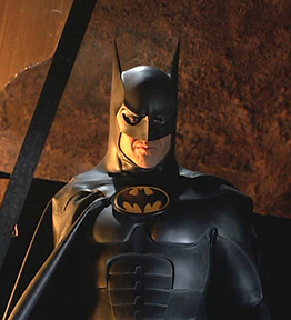 """""""Two guesses at which one delivered. Time's up. Me. Batman. I always deliver."""""""